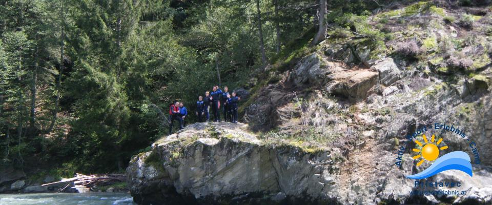 Rafting mit Felsensprung
