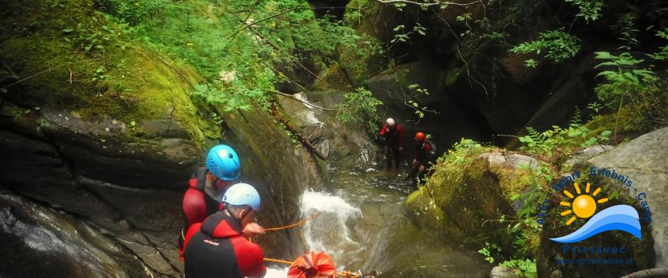 Canyoning in Kärnten