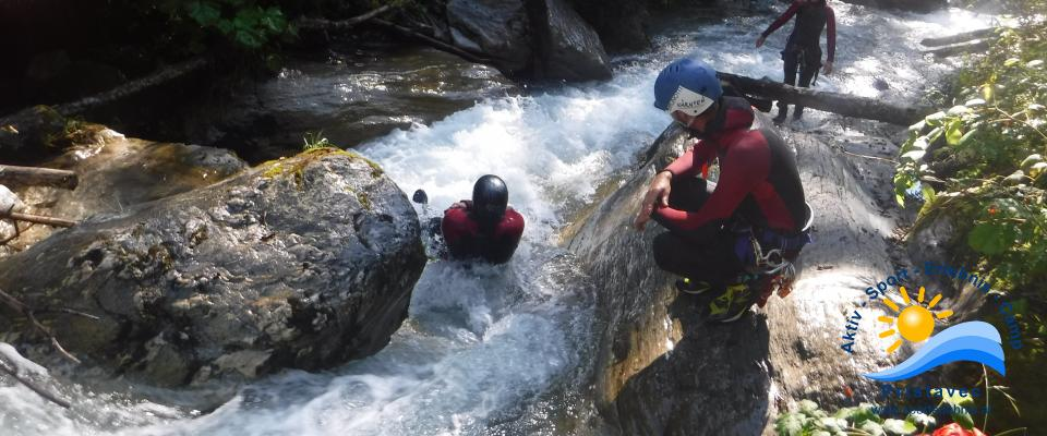 Canyoning easy ab 7 Jahren