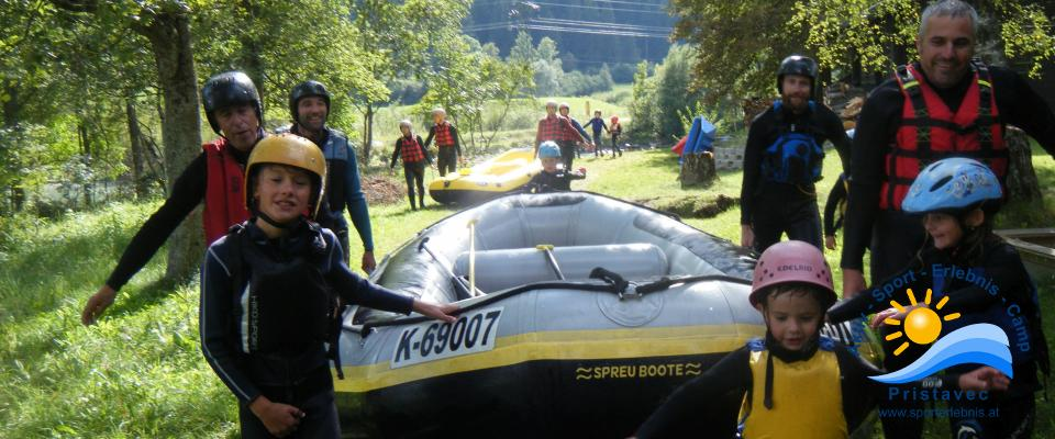 Rafting Jung und Alt