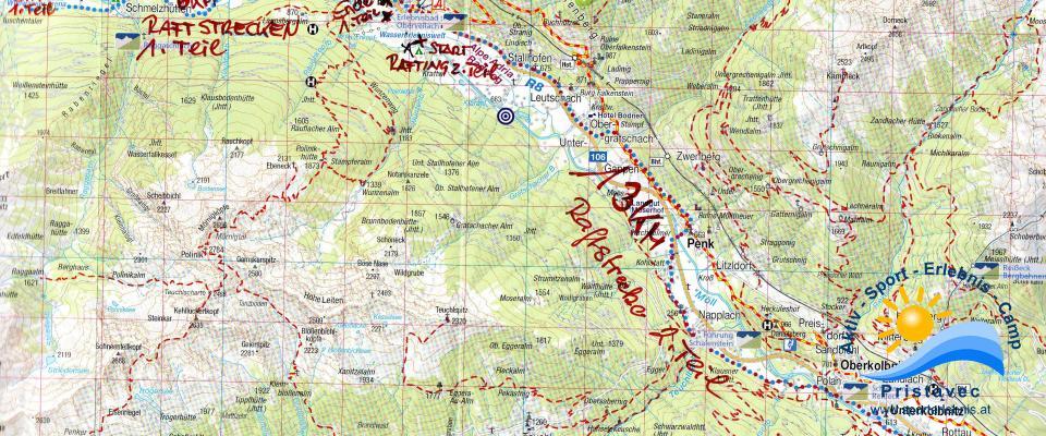 Raftstrecken in Kärnten auf der Möll 1. und 2. Teil